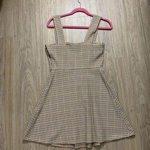 Zara Dresses - Zara Plaid Overall Dress